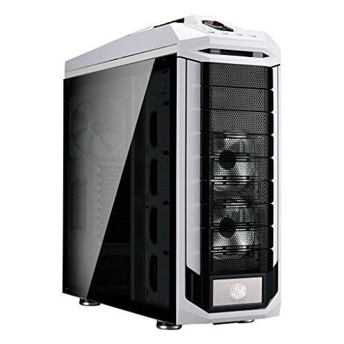 Cooler Master SGC-5000W-KWN2 Stryker SE Full-Tower Case, Tempered Glass, VGA Vertical Display, Carrying Handle, LED, USB 3.0 (Tower Full Case Computer)