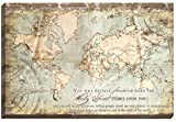 Carpentree Acts 1:8 Map Canvas Wall Art, 36 x 24''