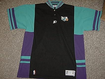 san francisco 12764 0e29a Anthony Mason Charlotte Hornets Game Worn Shooting Shirt at ...