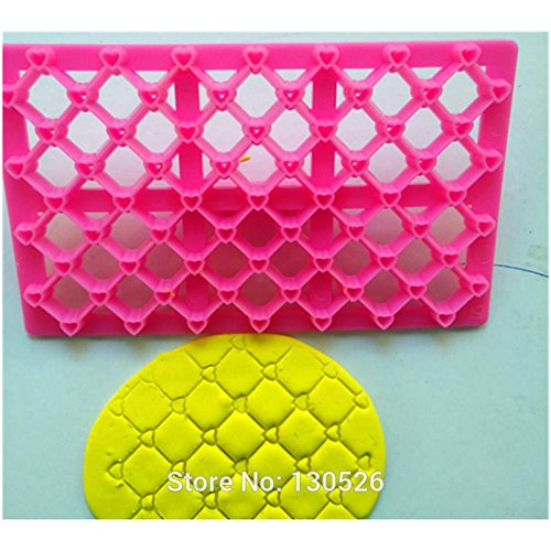 Heart Quilt Embosser Cake Stamp Mould Cookies Seal Cutting Mold Cake Decoration Tools Gum Paste Baking Mold