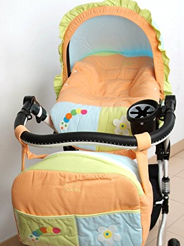Funda para Grupo 0 universal para bebés + Capota + Bolso gusano naranja. Funda portabebés