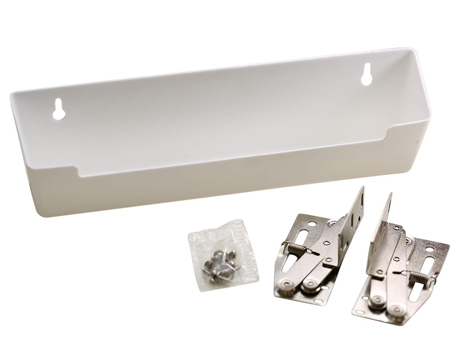 Hamilton Bowes Sink Front Tip-Out Tray (11-3/4'' with Hinges, White) by Hamilton Bowes
