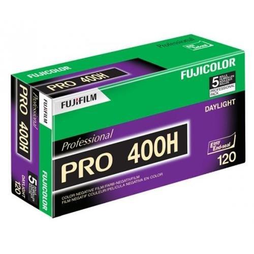 Fujifilm 16326119 Fujicolor Pro 120, 400H Color Negative Film ISO 400 - 5 Roll Pro Pack (Green/White/Purple) (Holga Film)