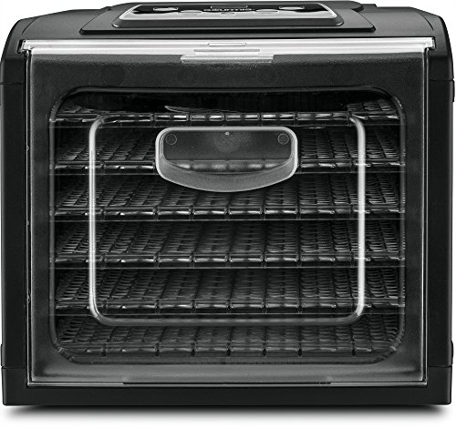 Gourmia GFD1650 Premium Electric Food Dehydrator Machine - Digital Timer and Temperature Control - 6 Drying Trays -Perfect for Beef Jerky, Herbs, Fruit Leather -BPA Free -480W - Black - Bonus Cookbook by Gourmia (Image #2)