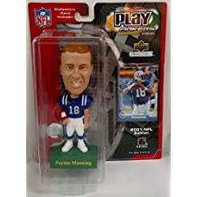 Play Makers Peyton Manning Bobble Head & Collectible Card Indianapolis Colts by Upper Deck