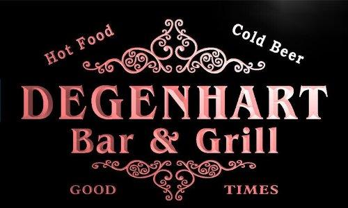 u10618-r DEGENHART Family Name Gift Bar & Grill Home Beer Neon Light Sign
