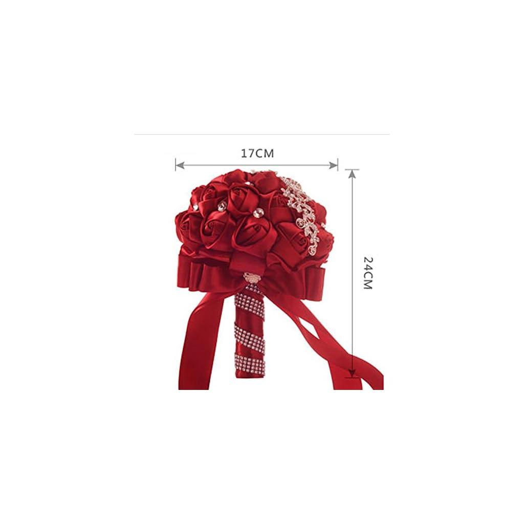 Wedding-Bouquet-YJYDADA-Crystal-Roses-Bridesmaid-Wedding-Bouquet-Bridal-Artificial-Silk-Flowers