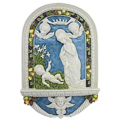 Design Toscano Adoration of The Christ Child by Della Robbia Wall Sculpture