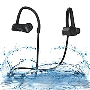 Wireless Bluetooth Headphones, BeYo LTD Runner Headset Sport Earphones Bass IPX7 Waterproof HD Stereo In Ear Earbuds Noise Cancelling Headsets up to 8 hours working time