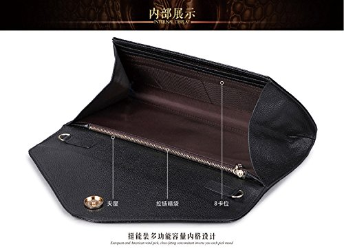 Wax Cow Red Genuine Shouder Party Leather Purse Handbag Eastylish Crocodile Women's Bag pPwSxtSE5q