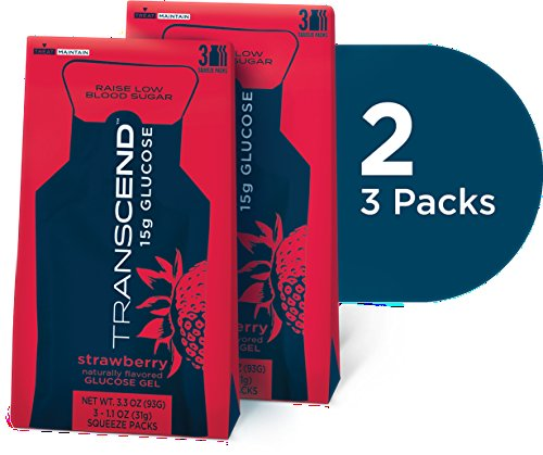 - Strawberry Glucose Gels in Two 3-packs by Transcend