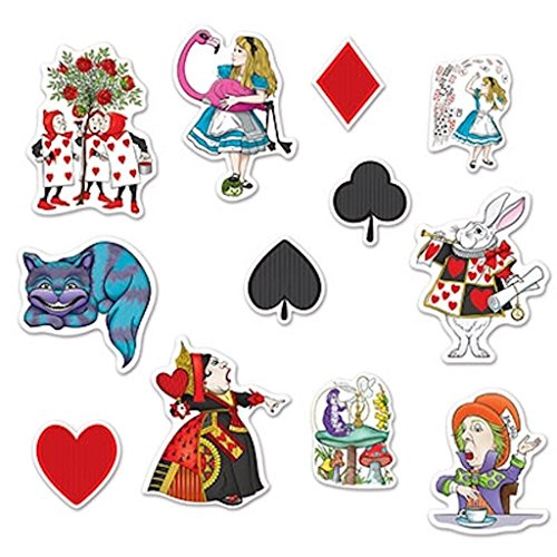 (Beistle 54781, 24 Piece Alice in Wonderland Cutouts, 6