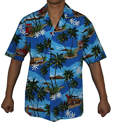 Alohawears Clothing Company Sales: Mens Woody Island Hawaiian Cruise Luau Aloha Shirt