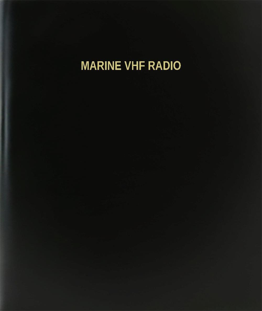 BookFactory® Marine Vhf Radio Log Book / Journal / Logbook - 120 Page, 8.5''x11'', Black Hardbound (XLog-120-7CS-A-L-Black(Marine Vhf Radio Log Book))