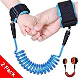 Image of 2 Pack Child Anti Lost Velcro Belt, MagnolianToddlers Walking Handle Wrist Safety Harness Straps for Kids/ Baby/ Toddlers, Perfect Security Kid Keeper, Adjustable Toddler Tether with Safety Wristband