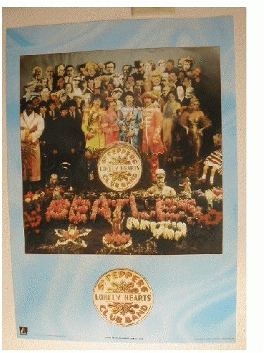 6Bo The Beatles Poster Sgt Peppers Sgt. Blue