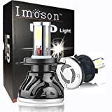 IMOSON Led Headlight Bulbs H4 9003, For Cars Super Bright, H4 led bulb Conversion Kit Headlamps, H4(9003) High Beam, 40w/low Beam 20W -80W 8,000lm 6000K Cool White COB LED chip