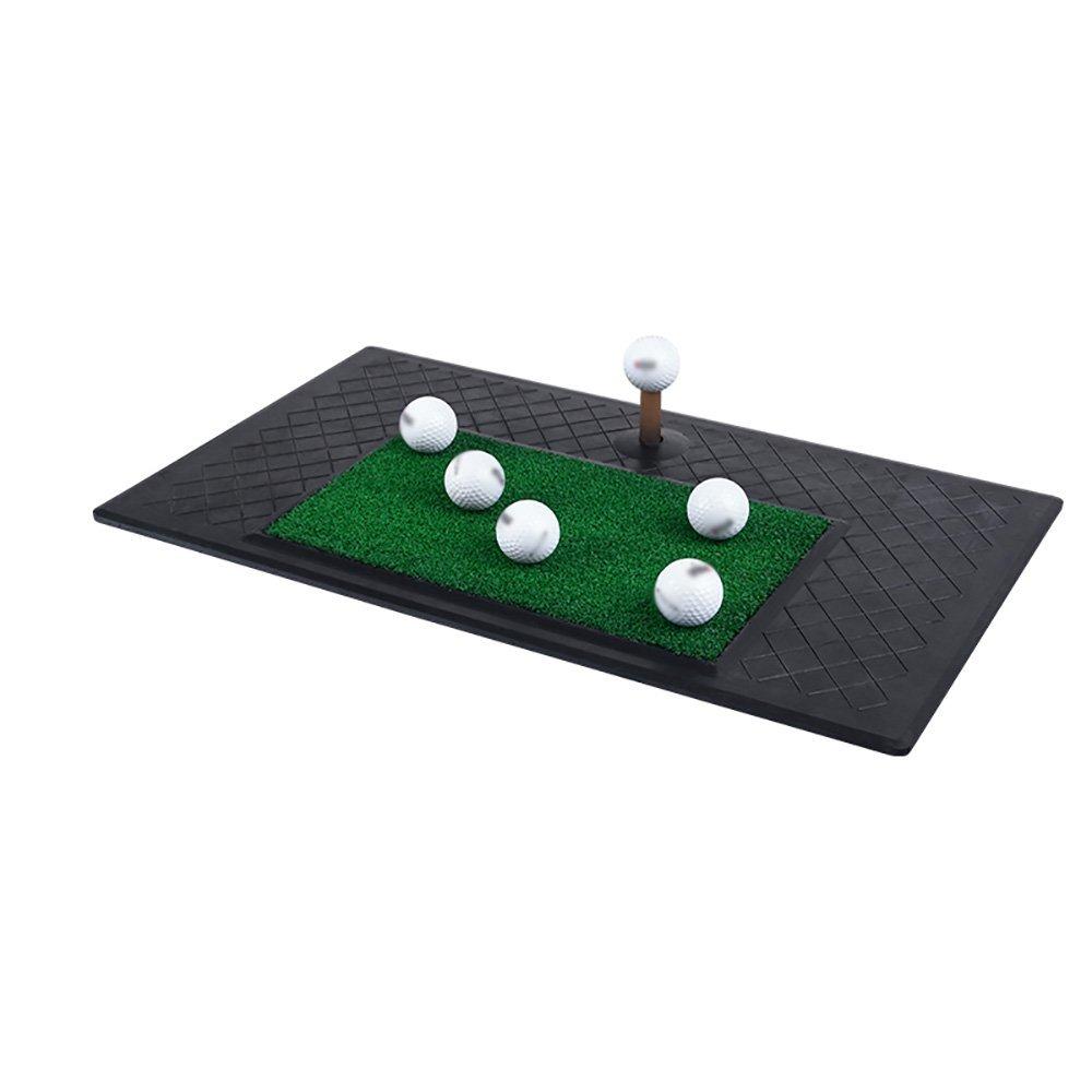 YD-パッティングマット ゴルフスイングブローマット屋外練習毛布アウトドアダブルグラス練習ブランケット61×34cm /&  1# B07G2XT42H