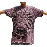 Sure Eye in Hand Print Wrinkled Vintage T-Shirt