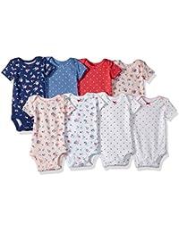 Baby Girls' 8 Pack Short Sleeve Bodysuits