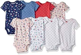 Carter's Baby-Girls 8 Pack Short Sleeve Bodysuits Short Sleeve Bodysuit - Multi - Preemie