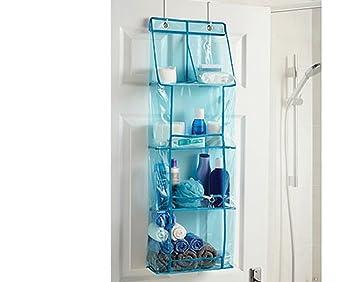 Overdoor Bathroom Organiser Hanging Tidy Storage Rack Towels