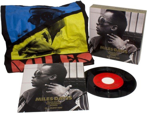 """Rpm Way 45 Records (Miles Davis-Limited Edition-Collectors Box-Includes 7"""" Vinyl 45 RPM Single (In Picture Sleeve) of Runs The VooDoo Down/In A Silent Way-PLUS a Miles Davis T-Shirt (Size XL))"""