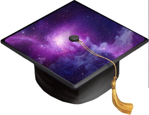 Galaxy Nebula Grad Cap Decal - Vinyl Sticker Skin for Graduation Caps
