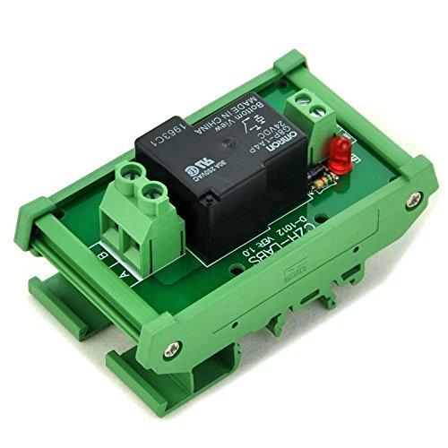 ELECTRONICS-SALON DIN Rail Mount Coil 24V Passive 1 Channel SPST-NO 30A 30Amp Power Relay Module.