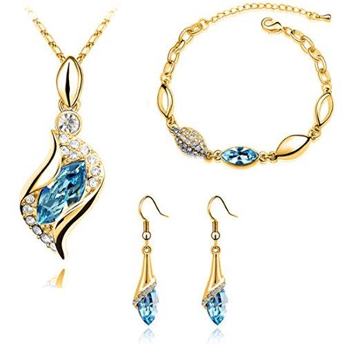 light blue crystal necklace - 3