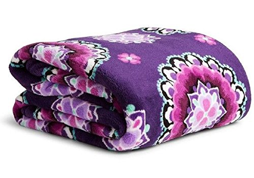 throw blanket lilac medallion