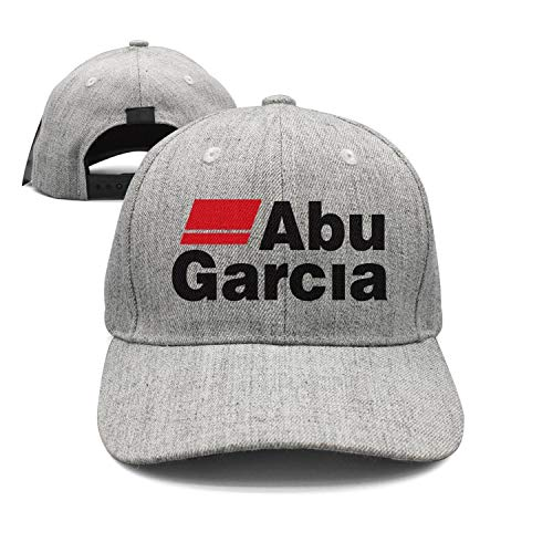 Classic Adjustable Mesh Grey Unisex Fishing-ABU-Garcia-Logo-Trucker Hat Cap