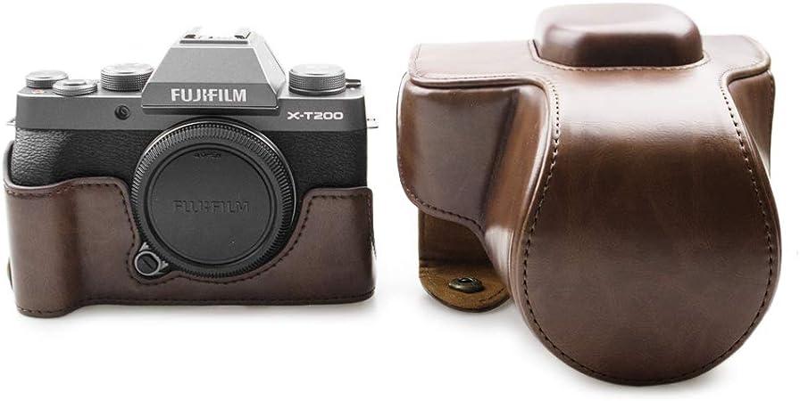 Fuji X T200 Hülle Kinokoo Pu Ledertasche Für Fuji Kamera