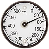 """PIC Gauge B2MS-Q 2"""" Dial Size, 50/500°F, Surface Mount, Magnetic Connection, Black Steel Case Surface Mount Thermometer"""
