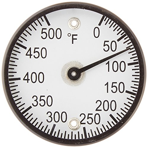 Dial Temperature Range (PIC Gauge B2MS-Q Black Steel Bimetal Surface Mount Magnetic Thermometer, 2