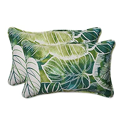 Pillow Perfect Outdoor/Indoor Key Cove Lagoon Rectangular Throw Pillow (Set of 2) - Includes two (2) outdoor pillows, resists weather and fading in sunlight; Suitable for indoor and outdoor use Plush Fill - 100-percent polyester fiber filling Edges of outdoor pillows are trimmed with matching fabric and cord to sit perfectly on your outdoor patio furniture - patio, outdoor-throw-pillows, outdoor-decor - 51giHUANVNL. SS400  -