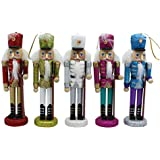 La moriposa Nutcracker Soldier Sets Ornament Christmas Decoration 5 pack