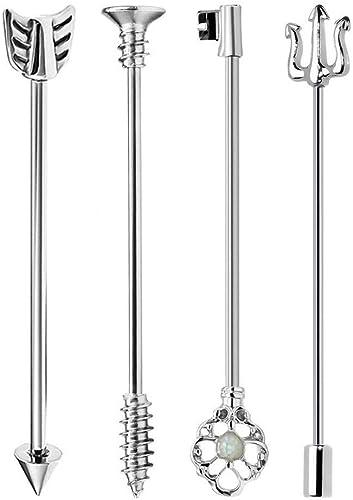 14g Barbell Industrial Earring Scaffold Piercing Steel Bar Piercing Surgical Steel Industrial Jewelry Industrial Barbell