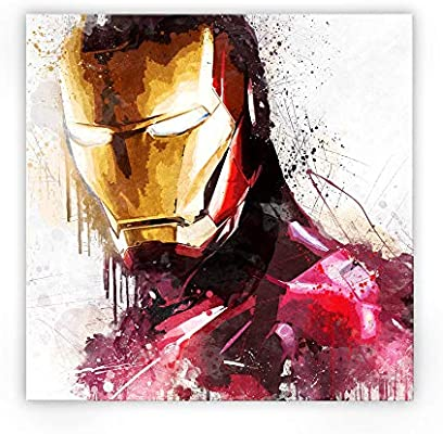 Zabarella Iron Man Super Héros Marvel Comics Avengers Toile Imprimée