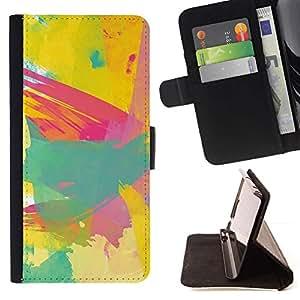 Momo Phone Case / Flip Funda de Cuero Case Cover - Pintura Pintura Pincel artista abstracto - Samsung Galaxy S6