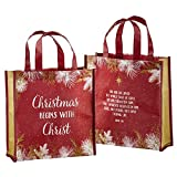 Christmas Begins with Christ Tote Bag,12'' Square with 4'' Gusset, 12 pack.