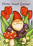 """ Home Sweet Gnome "" Large Outdoor Yard Art Flag 28″ x 40″ Gnome with Mushroom and Red Tulips Review"