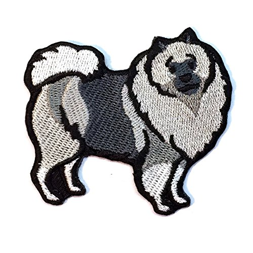 Keeshond Iron on Patch