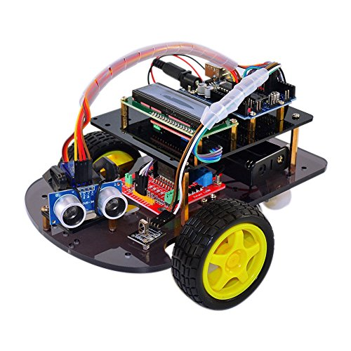 Ultrasonic Remote Control Smart Car DIY Robot Starter Kit for Arduino by Aigh Auality shop