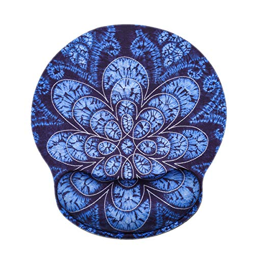- Desk Gaming Mouse Pad with Wrist Support,iKammo Small Deep Blue Porcelain Ergonomic Computer Mouse Pad Memory Foam Non Slip Gel Wrist Rest Mouse Pad for Gaming,Working,Office & Home (Color 10)