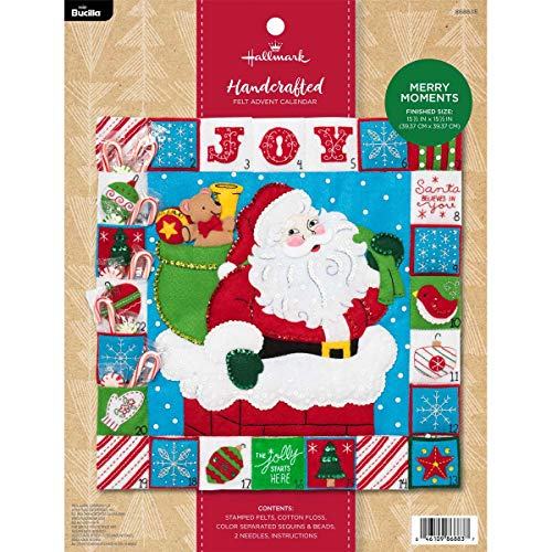 Advent Calendar Tradition - Bucilla 86883 Hallmark Felt Advent Calendar, 15.5