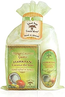 product image for Island Soap & Candle Works,Soap and Lotion Organza Set, Mango Coconut Guava