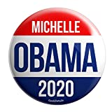 Geek Details Obama Themed Pinback Button (Michelle Obama 2020)