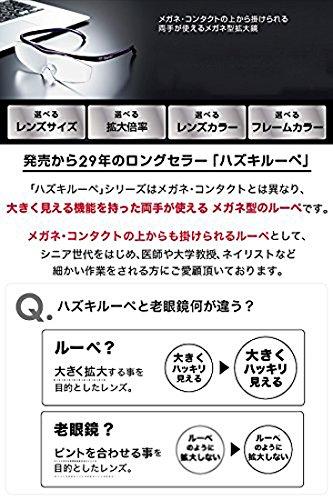 Hazuki Loupe Magnifier Compact Clear Lens 1.6 X Blue Light 35% Cut (Black) by Hazuki (Image #1)