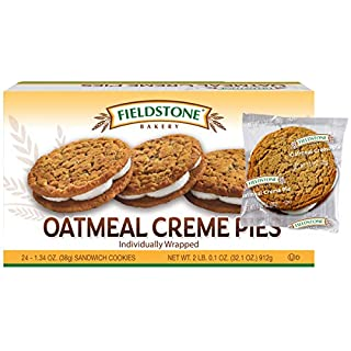 Fieldstone Bakery Oatmeal Crème Pies, 4 Boxes, 96 Individually Wrapped Cookies